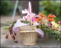 草の葉物語さんプレゼント。桜さんへの花束です。